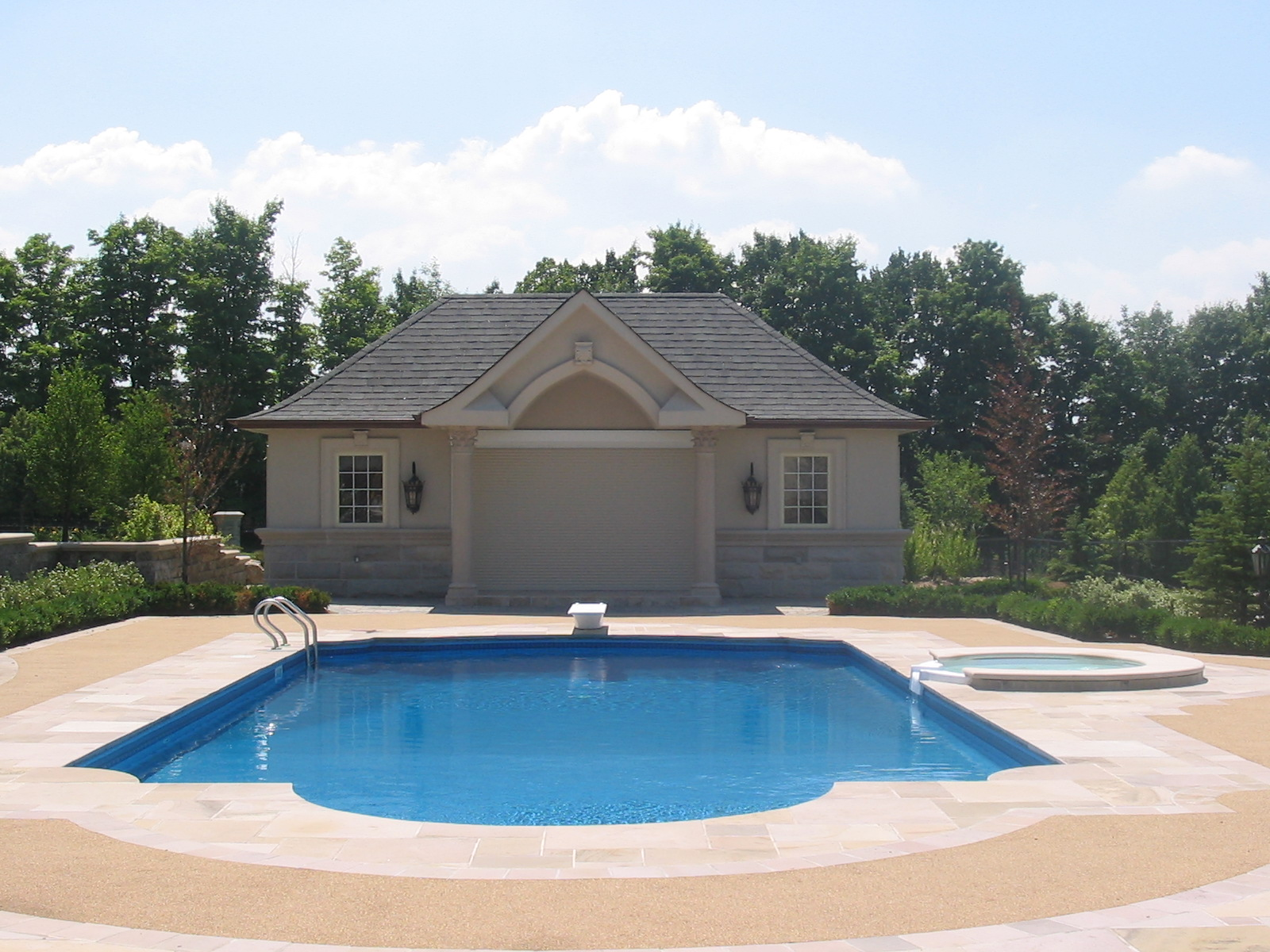 Doughboy inground pools reviews round designs for Pool design by laly llc